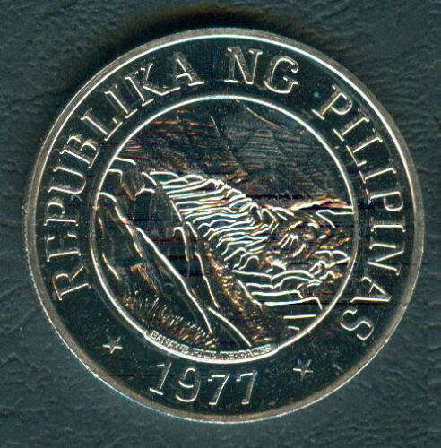 LOW MINTAGE 1977 Banaue Rice Terraces 25 Piso Philippine Silver Coin