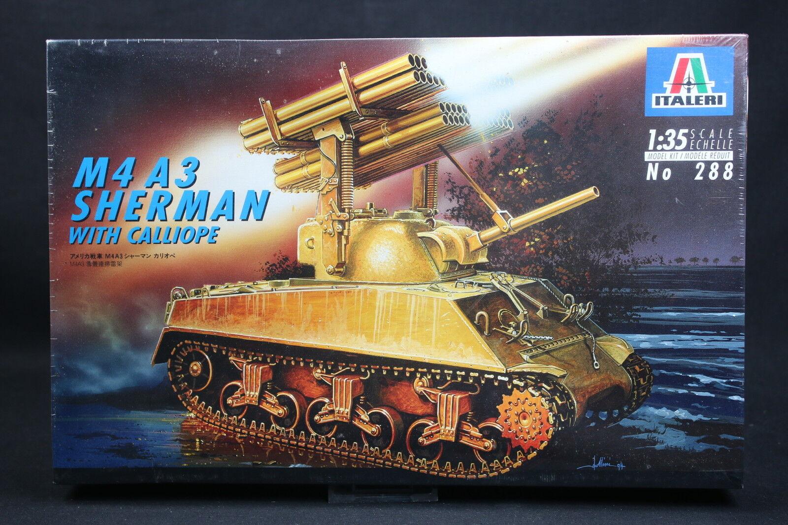 XT073 ITALERI 1 35 35 35 maquette tank char 288 M4 A3 Sherman with calliope fc1c70