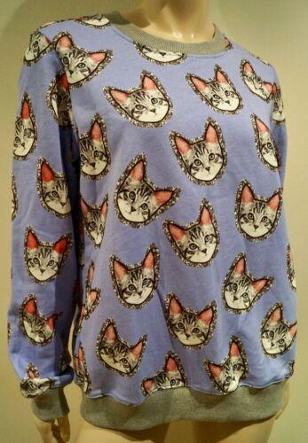 Lupfer Top Markus Lavender Jumper Print Jersey Meow L Bnwt Sweater Cotton qVpGUSzM