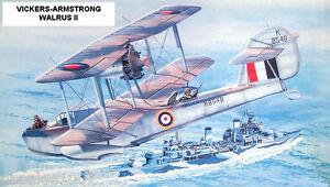 "Model Airplane Plans (FF): WALRUS II 38"" Scale Amphibian Biplane for .75-1cc"