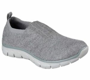 c848efae9ac9a Details about NEW SKECHERS Women Sneakers Trainers Memory Foam  EMPIRE-CLEAR-AS-DAY Grey