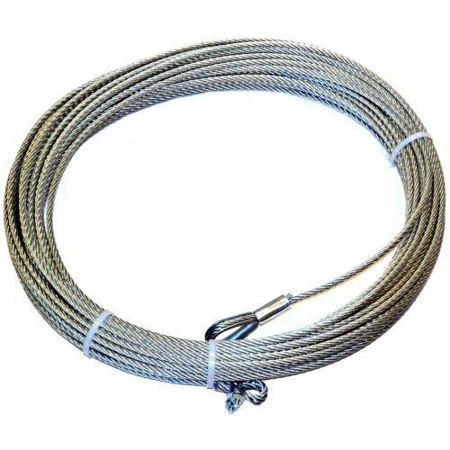 150/' Warn 38311 Wire Rope Assy 46m, 8mm 5//16/""