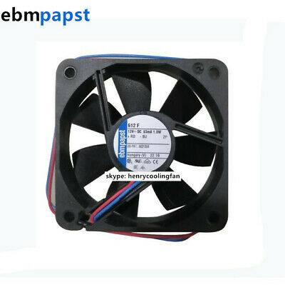Ebm Papst 612f Axial Fan 12vdc 1 0w 83ma 60 60 15mm 2 Wire Low Noise Cooling Fan 912591137006 Ebay