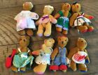 "Miniature Mini 3 1/4"" Teddy Bear Lot Vermont Teddy Bear Pocket Collection"