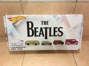 Hot-wheels-Hotwheels-Real-Riders-Pop-Culture-The-Beatles-set-of-5-MIB