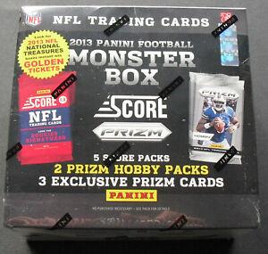 NFL-Score-MONSTER-Box-2013-Football-Trading-Card-OVP-3-Exklusive-Prizm-per-Box