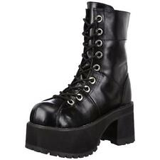 Demonia 2346 Womens Ranger301 Black Platform Boots Shoes 12 Medium (B,M) BHFO