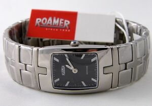 ROAMER-SC2134-Damen-Uhr-Edelstahl-schwarz-Saphirglas-SWISS-MADE-UVP-249-00-NEU
