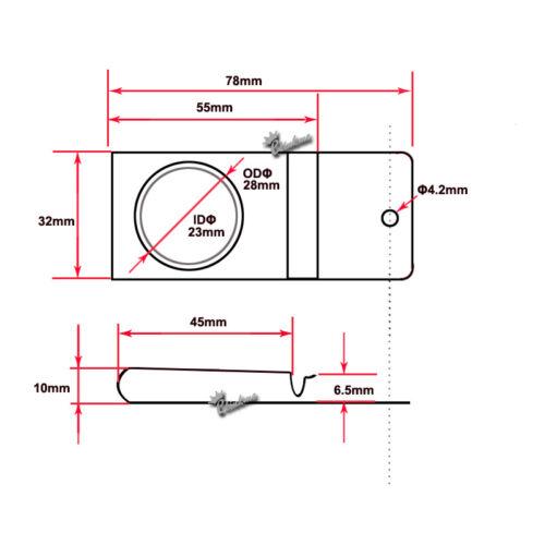 32mm Spring Steel Metal IWB Tuckable Hybrid Holster Belt Clips 20pcs 78mm