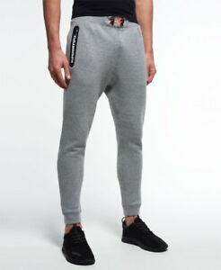 928d0520c84873 Image is loading New-Mens-Superdry-Gym-Tech-Slim-Joggers-Grey-