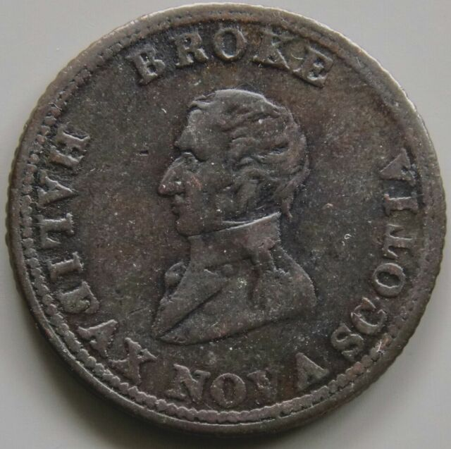 1814 NS-7B4 Captain Broke Halifax Nova Scotia Canada Canadian Token