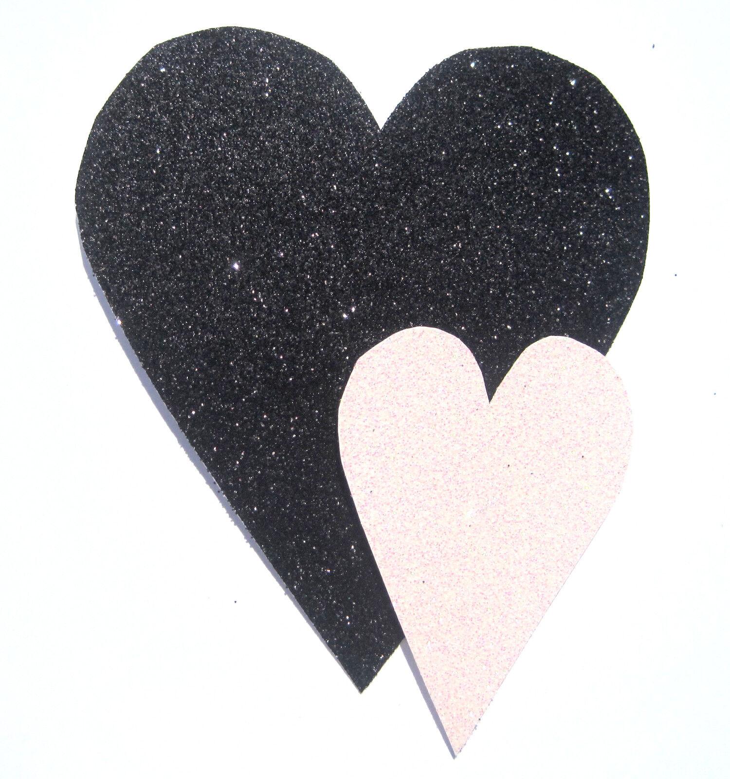 Handgefertigt Karte Geburtstag Jubiläum Valentinstag Danke Glitzer Liebe Herzen | Ich kann es nicht ablegen  | Beliebte Empfehlung