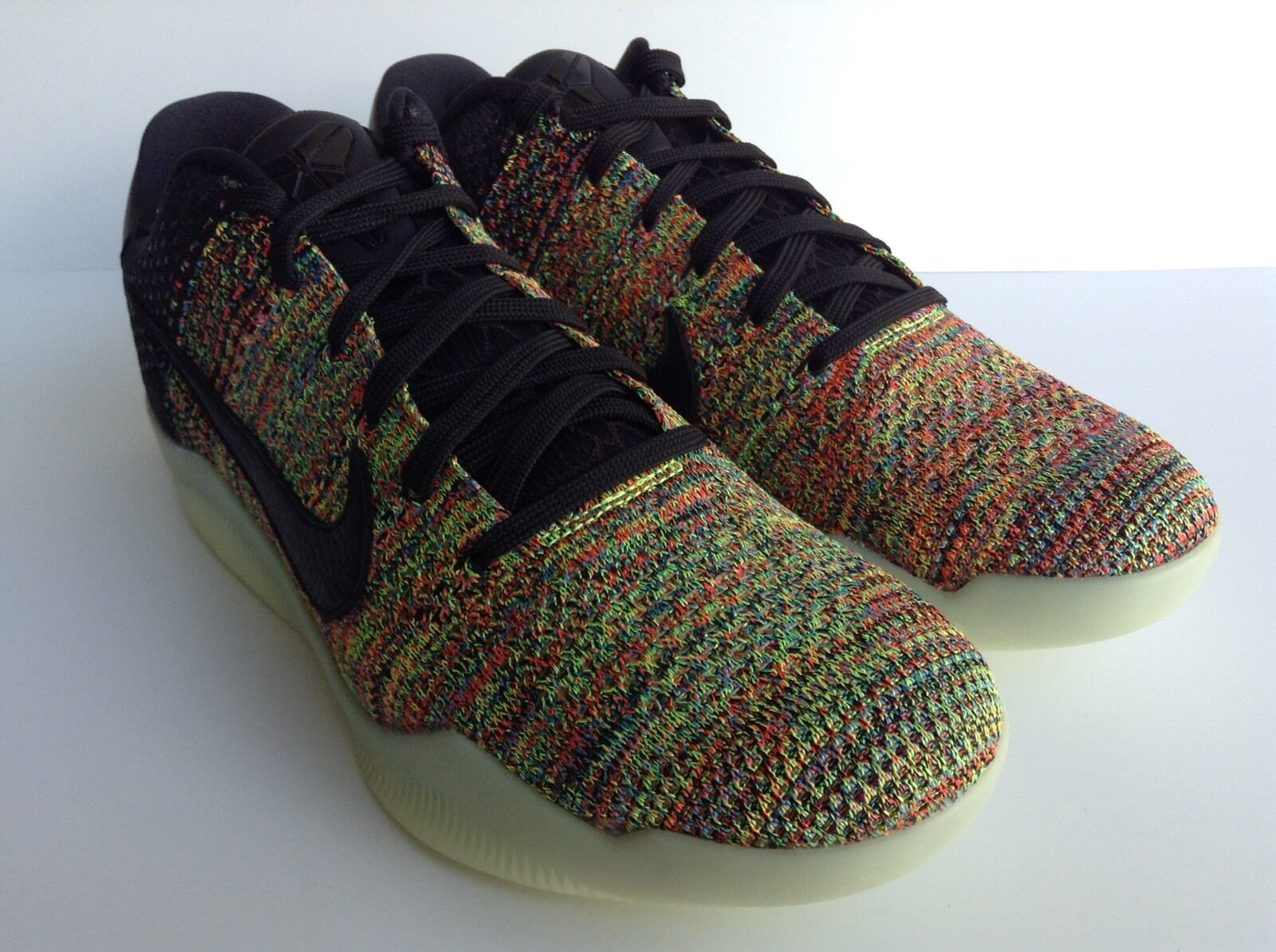 Nike kobe xi 11 elite basso flyknit multi - colore identificativo sz 8 bagliore bevi (903712-993)