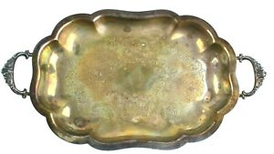 Vintage-Wallace-Marked-2422-Silver-Plate-Footed-w-handles-Serving-Tray-12-034-x7-034