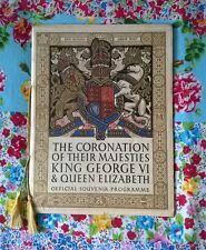 Coronation of King George 6th & Queen Elizabeth Official Souvenir Programme