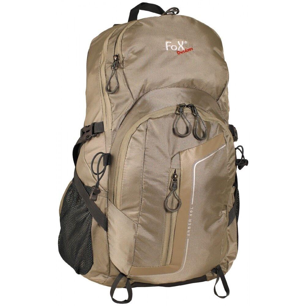 Fox Outdoor Zaino Arber 40 GRIGIO Trekking Zaino Backpack Zaino 100% nylon