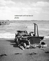 Us Jeep Sunk In The Sand On Iwo Jima 8x 10 World War Ii Photo Picture 45
