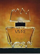 PUBLICITE advertising  1972     VIVRE  parfum  MOLYNEUX