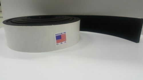 "NEOPRENE RUBBER SHEET STRIP 1//4/"" thick X 2/"" wide X 10/' PSA ADHESIVE ONE SIDE"