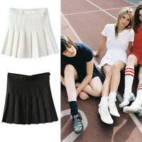 New Womens Slim Thin High Waist Pleated Tennis Skirts Mini Dress Playful From UK