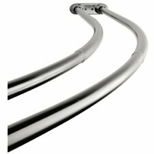 Item 4 Shower Curtain Rod Adjustable Double Curved Stainless Steel Bath Tub Chrome 72