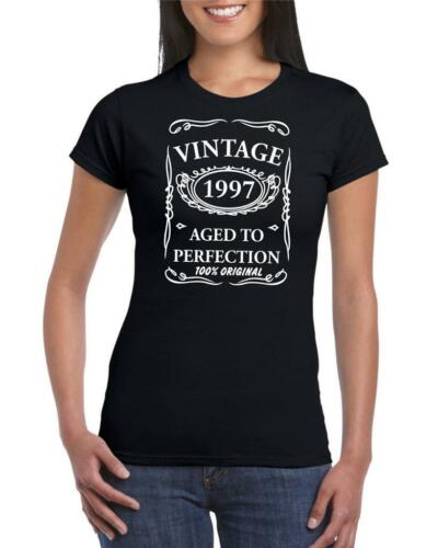 22nd Birthday Present Gift Year 1997 Aged To Perfection Womens Funny TShirt