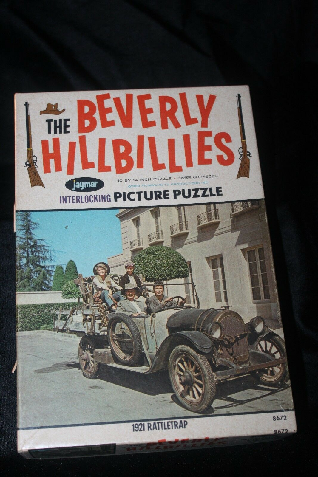 Vintage The Beverly Hillbillies Picture Puzzle w Box 1963  Complete  10x14