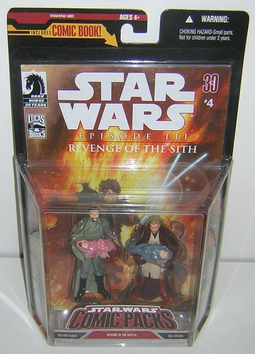 stjärna Wars 30 e årsdagen av TAC Comic packa Obi Wan Kenobi & Bail Organa
