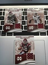 MISSISSIPPI STATE Game-Used Jersey Relic Lot Of 3 DAK PRESCOTT De'Runnya Wilson