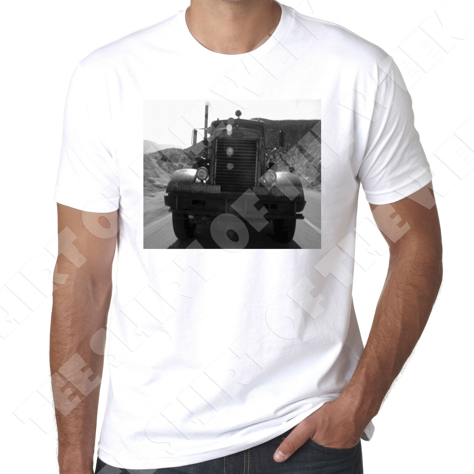 eca633243 Peterbilt Truck from Duel Spielsberg early film mens Printed T shirt custom  printed tshirt,hip hop funny tee, mens tee shirts
