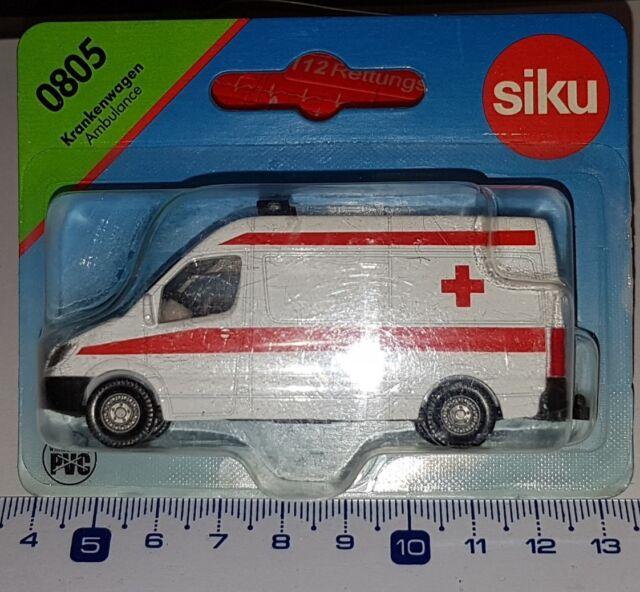 SIKU 0805 VOITURE EMERGENCY RED CROSS MERCEDES AMBULANCE DIECAST SCALE 1:64 NEUF