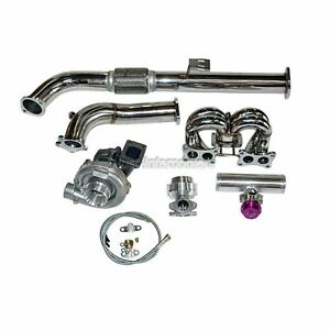 turbo manifold kit for 89 90 nissan s13 240sx with stock. Black Bedroom Furniture Sets. Home Design Ideas