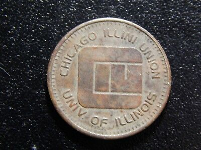 Coins & Paper Money Chicago Illini Union Univ Of Illinois Game Token Zz689xux Excellent In Cushion Effect