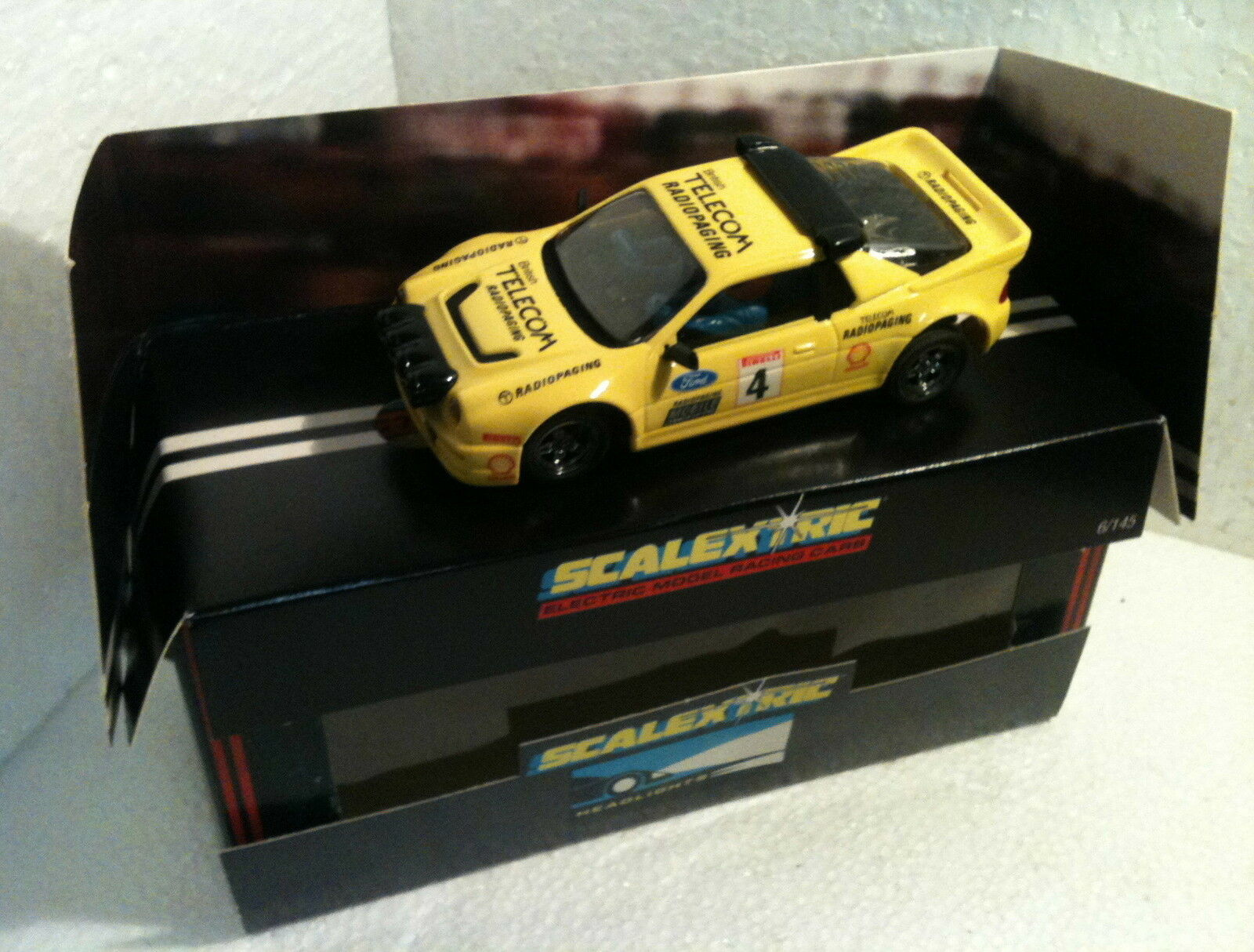 Qq C 429 SCALEXTRIC UK FORD RS 200 RADIOPAGING (EXIN EXPORT TAMPOGRAPHY)