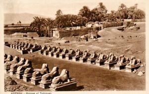Karnak Egypt Avenue Of The Sphinxes Real Photo Postcard circa1920