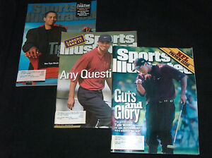 3 Lot Tiger Woods Sports Illustrated Magazines June 26, April 3, August 28, 2000
