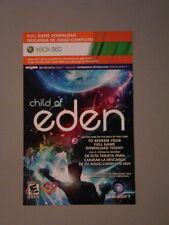 XB360 CHILD OF EDEN (2011) KINECT Game MICROSOFT Digital Download Card