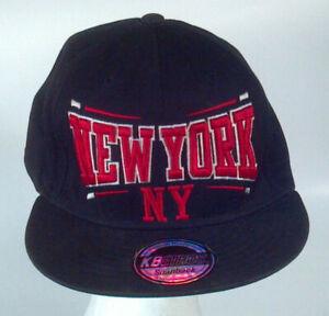 b2545ea12ff New York City NY Baseball Cap Trucker Hat Snapback KB Ethos Black ...