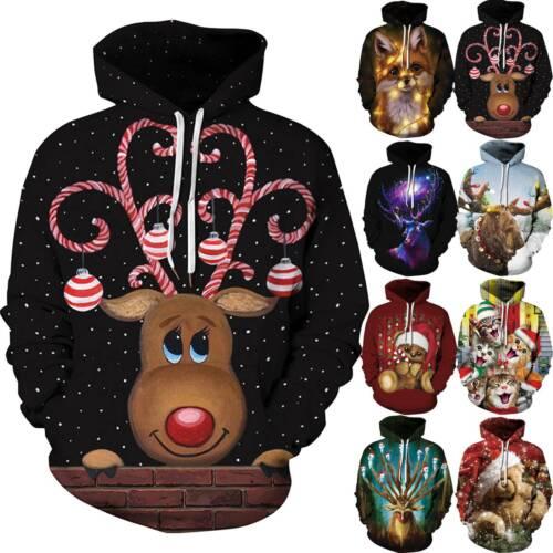 Women Men 3D Animal Festival Ugly Sweatshirt Hoodie Hoodies Sweater Jumper Tops