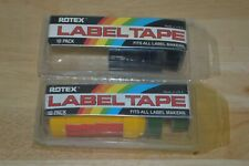 New Lot Of Rotex Embossing Tape Blue Yellow Green 12 Label Labeling