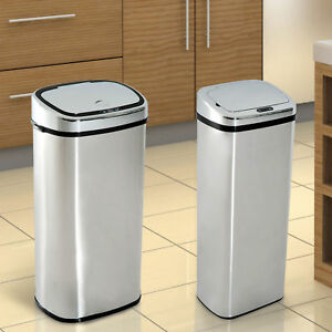 Homcom Mülleimer Automatik Mit Sensor Abfalleimer Küche Edelstahl