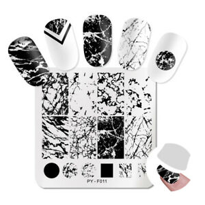 PICT-You-Nail-Stamping-Plates-Marble-Stencil-Nail-Art-Image-Printing-Templates
