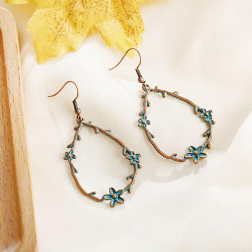 Ethnic Jhumka Jhumki Gold Gypsy Dangle Women Earrings India Tribal Tibet Jewelry