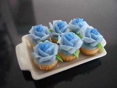10 Cupcakes Mix Cream on Tray Dollhouse Miniatures Food  Bakery