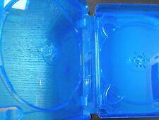 5 Quad 4-Disc Blue CD DVD Blu Ray Translucent XBox 360 Game Movie Case 22mm