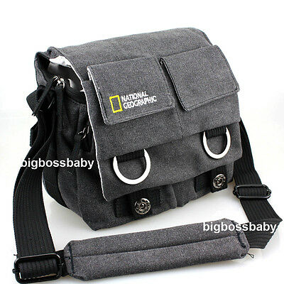 New NG2345 Black Canvas Travel Shoulder DSLR Camera Bag For Canon Nikon Sony