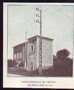 1927 -- POSTE ELECTRIQUE PRINCIPAL DE VIENNAY S918 - France - 1927 -- POSTE ELECTRIQUE PRINCIPAL DE VIENNAY S918 il ne s'agit pas d'une carte postale , mais d'un beau document paru dans la rare illustration. EN 1927 le document GARANTI D'EPOQUE est en tres bon état et présenté sur carton d'encadrement fo - France