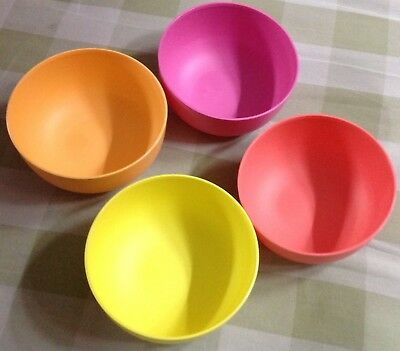 tupperware blossom bowl 550 ml 4 pc multi colors ebay tupperware blossom bowl 550 ml 4 pc multi colors ebay