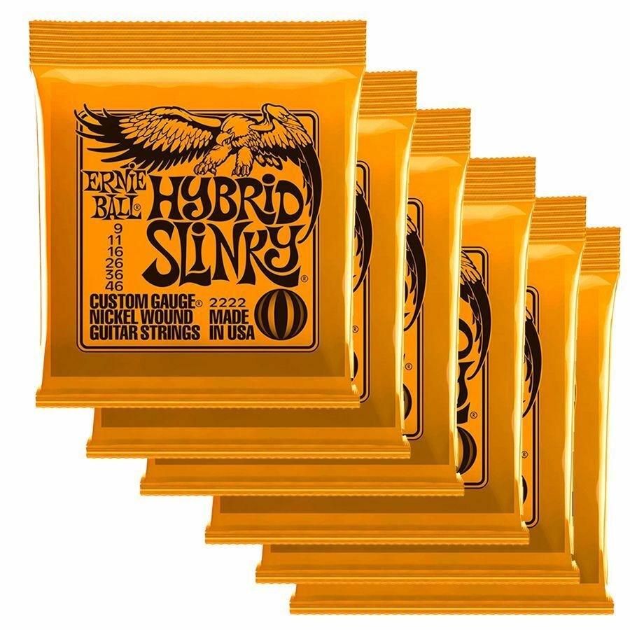 Ernie Ball 2222 Hyrbrid Slinky Strings Strings Strings 6 x SETS - 9 46 f007cf