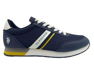 Scarpe uomo US Polo 4127 sneakers casual sportive basse comode tempo libero blu